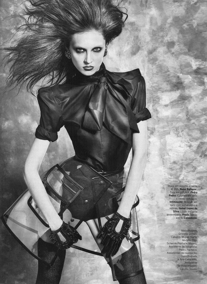 Olga Sherer for Vogue Portugal September 2010 by Bojana Tatarska