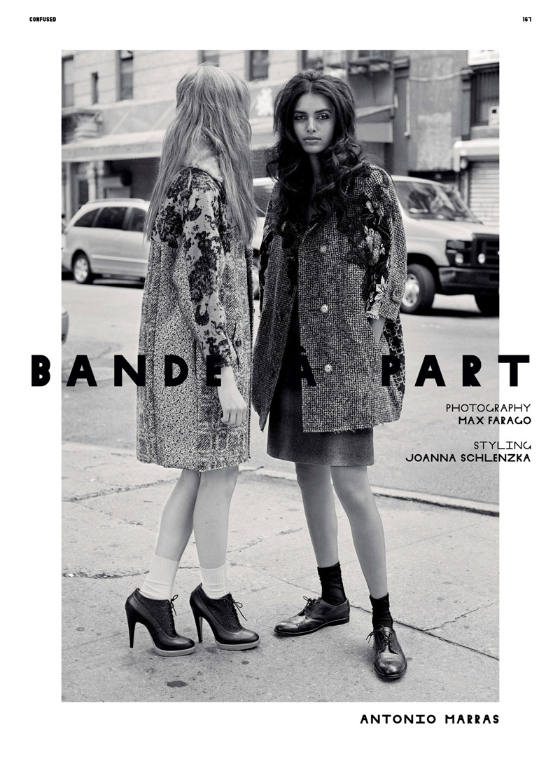 Lakshmi Menon & Amanda Norgaard by Max Farago for Dazed & Confused September 2010