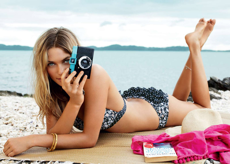 Jessica Hart & Samantha Harris by Max Doyle for Seafolly Summer 2010 Catalogue