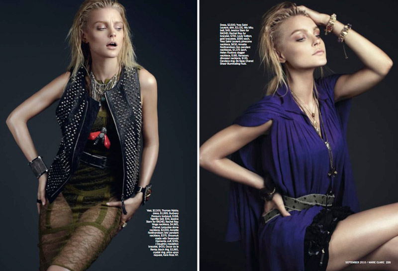 Jessica Stam by David Roemer for Marie Claire US September 2010