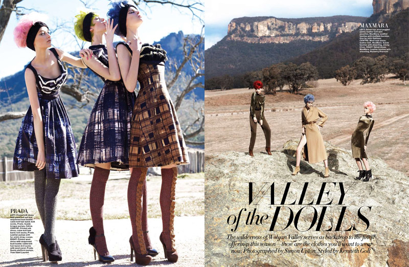 Valley of the Dolls by Simon Upton for Harper's Bazaar Singapore September 2010