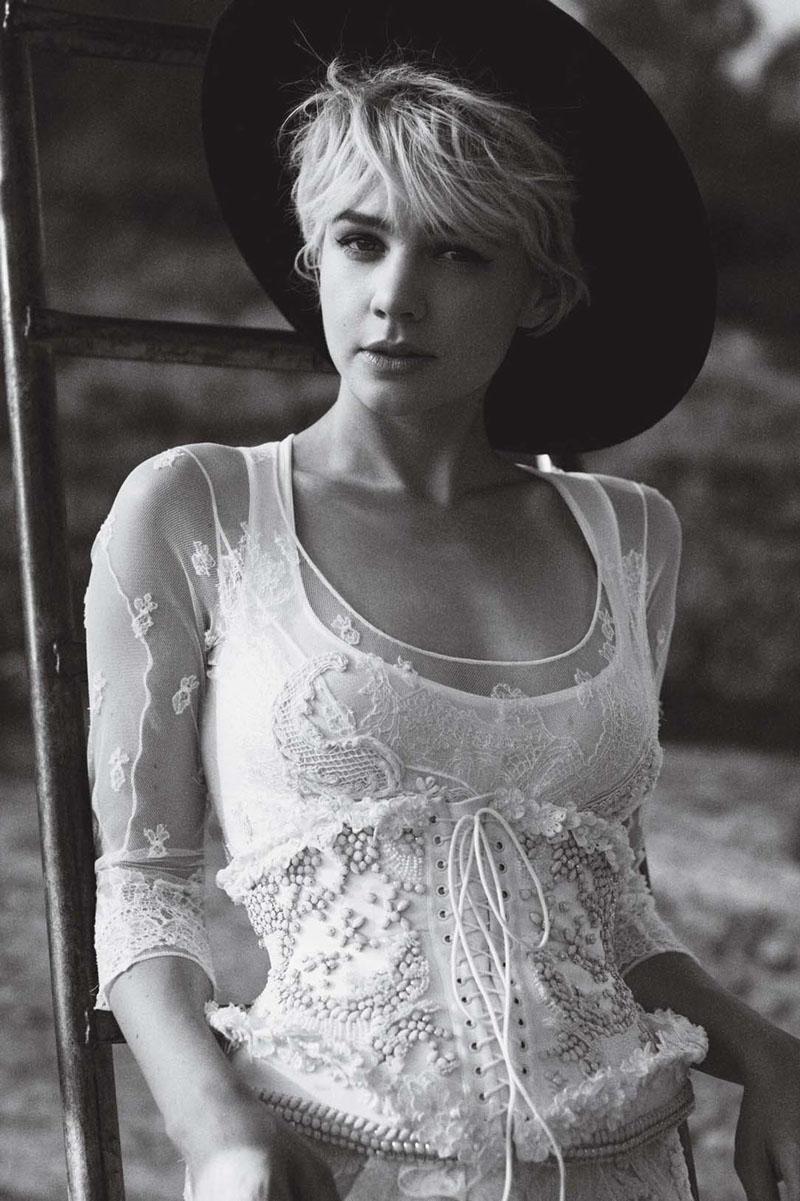 Carey Mulligan for Vogue US October 2010 by Peter Lindbergh