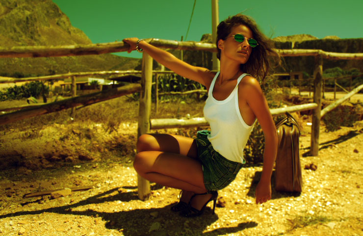Caterina Maiorana by Diego Diaz Marin in Sicily 90's