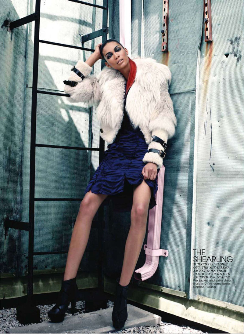 Chanel Iman for Flare October 2010 by Max Abadian