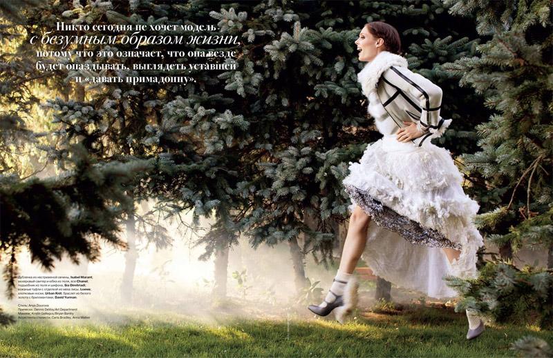 Coco Rocha for Tatler Russia October 2010 by Arthur Elgort