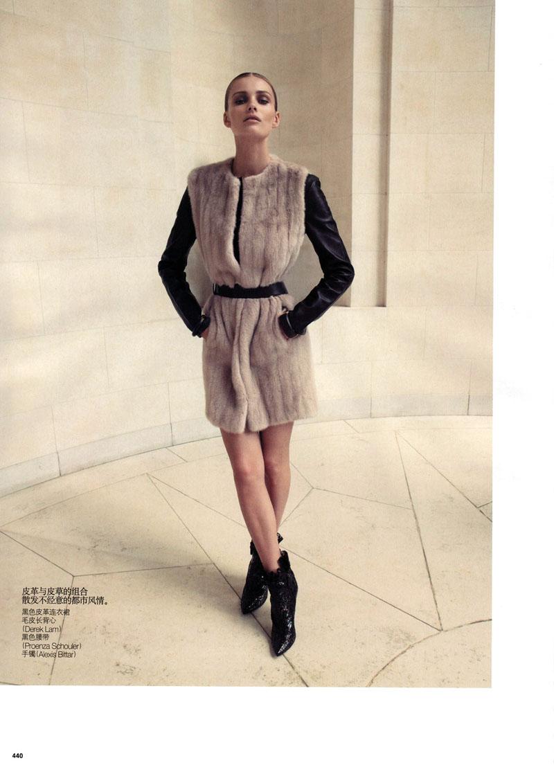 Edita Vilkeviciute by Camlla Akrans for Vogue China October 2010
