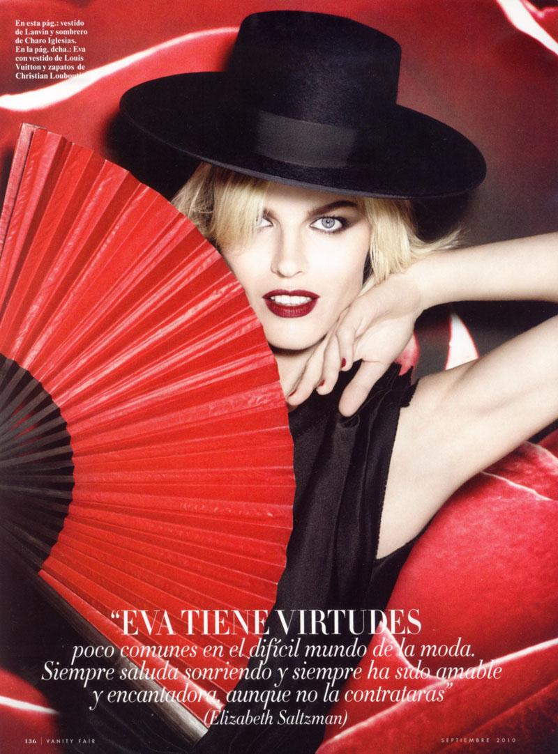 Eva Herzigova for Vanity Fair Spain September 2010 by Rankin