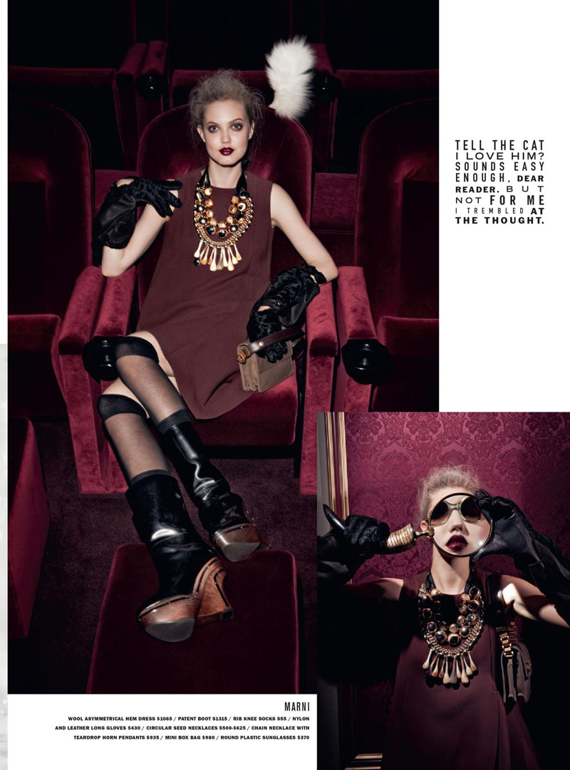 Lindsey Wixson for Barneys Fall 2010 Catalogue by Walter Pfeiffer