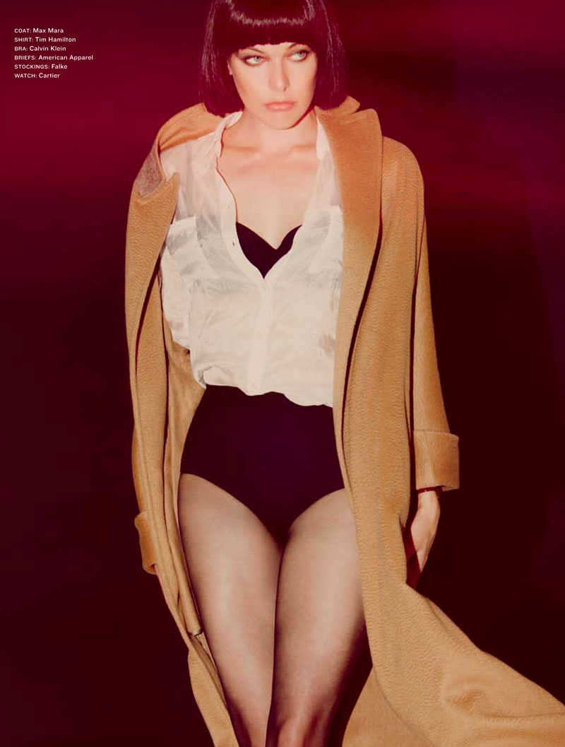 Milla Jovovich for Los Angeles Times Magazine September 2010 by Guy Aroch