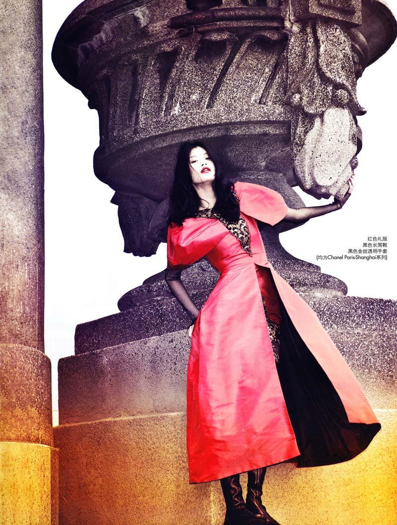 Ming Xi by Liang Zi in Urban Magic   Elle China