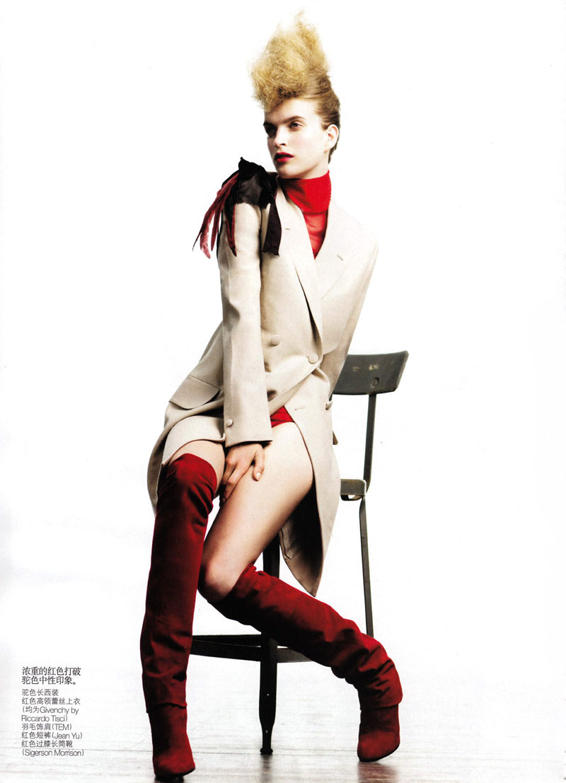 Mirte Maas by Willy Vanderperre for Vogue China October 2010