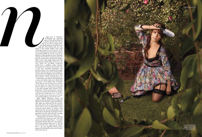 Nicole Richie for Harper's Bazaar Arabia October 2010 by Pavel Havlicek