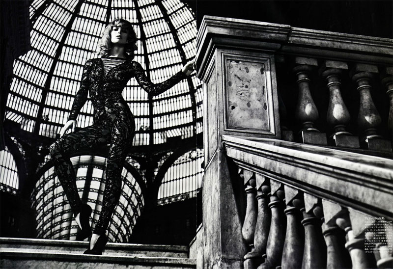 Raquel Zimmermann by Mario Sorrenti in Darker is the Memory   Vogue Nippon October 2010