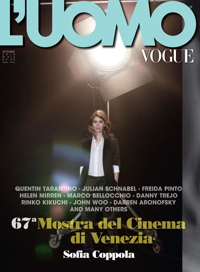 Sofia Coppola by Peter Lindbergh for L'Uomo Vogue September 2010