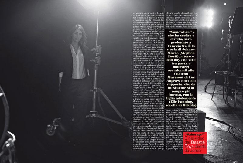 Sofia Coppola by Peter Lindbergh for L'Uomo Vogue September 2010