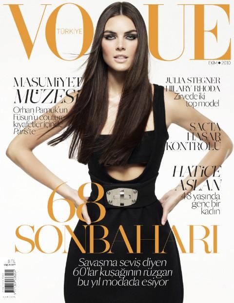 Vogue Turkey October 2010 Cover   Hilary Rhoda & Julia Stegner by Cuneyt Akeroglu