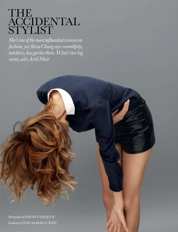 Alexa Chung by David Vasiljevic for Elle UK November 2010