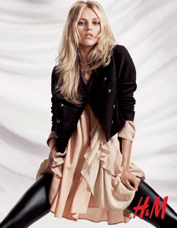 Anja Rubik by Daniel Jackson | H&M Fall 2010 Campaign