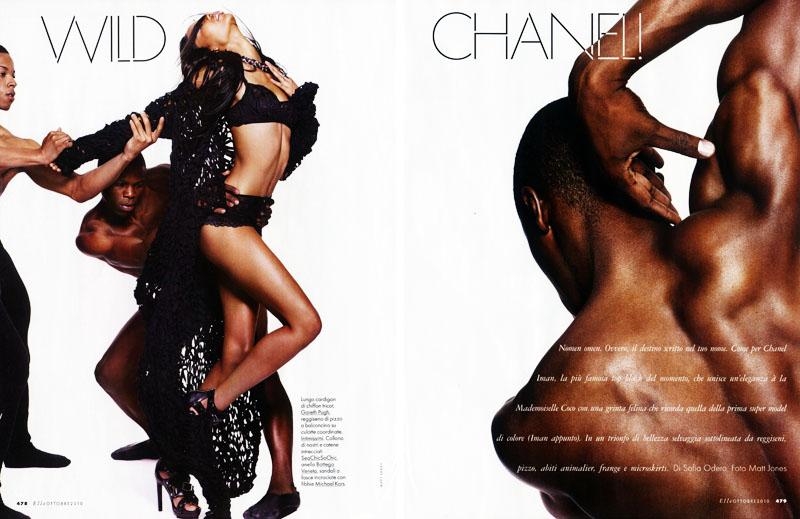 Chanel Iman for Elle Italia October 2010 by Matt Jones