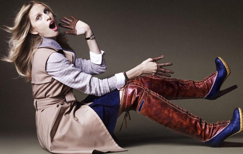 Karolina Kurkova by Marcin Tyszka for Elle France