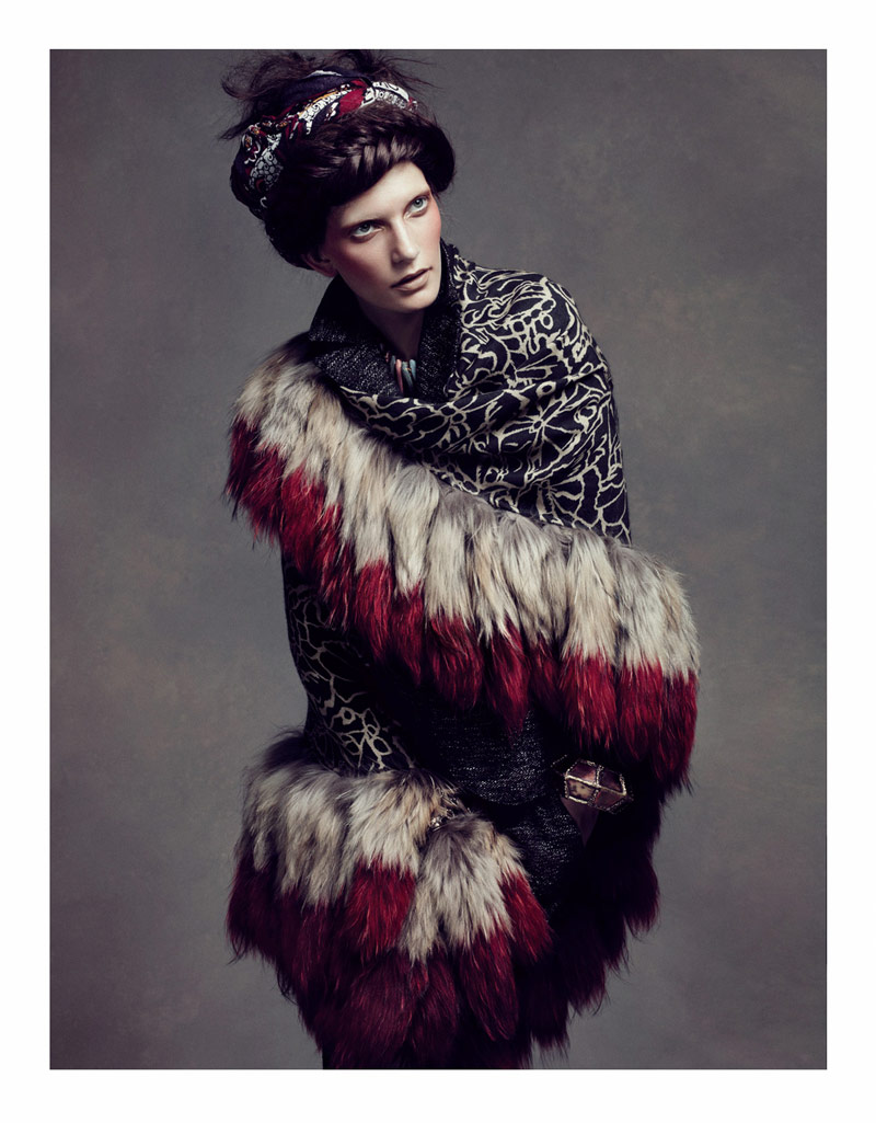 Valerija Kelava by Lachlan Bailey for Vogue China November 2010