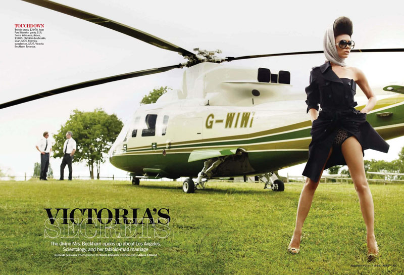 Victoria Beckham for Marie Claire US November 2010 by Ruven Afanador