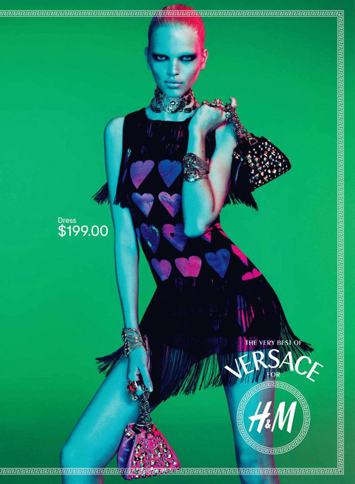 Daphne Groeneveld & Lindsey Wixson for Versace for H&M Fall 2011 Campaign by Mert & Marcus