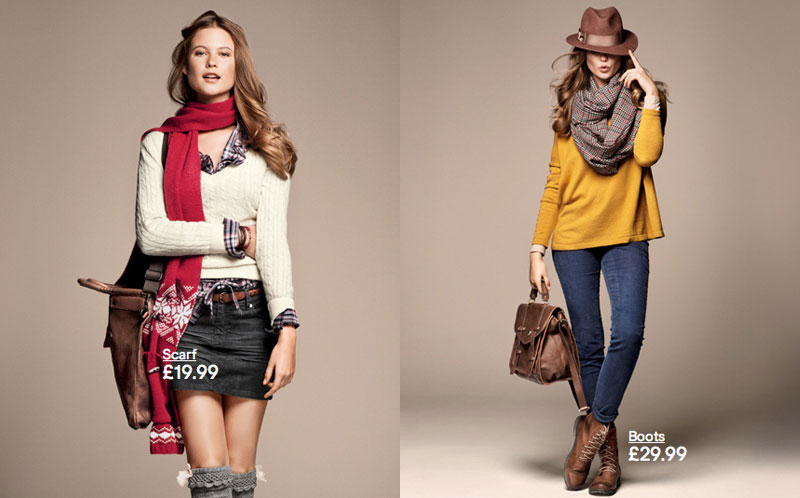 Behati Prinsloo for H&M Fall 2011 Campaign by Asa Tallgard