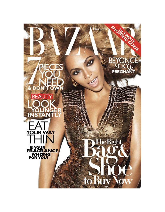 Beyonce Covers Harper's Bazaar US November 2011 by Terry Richardson