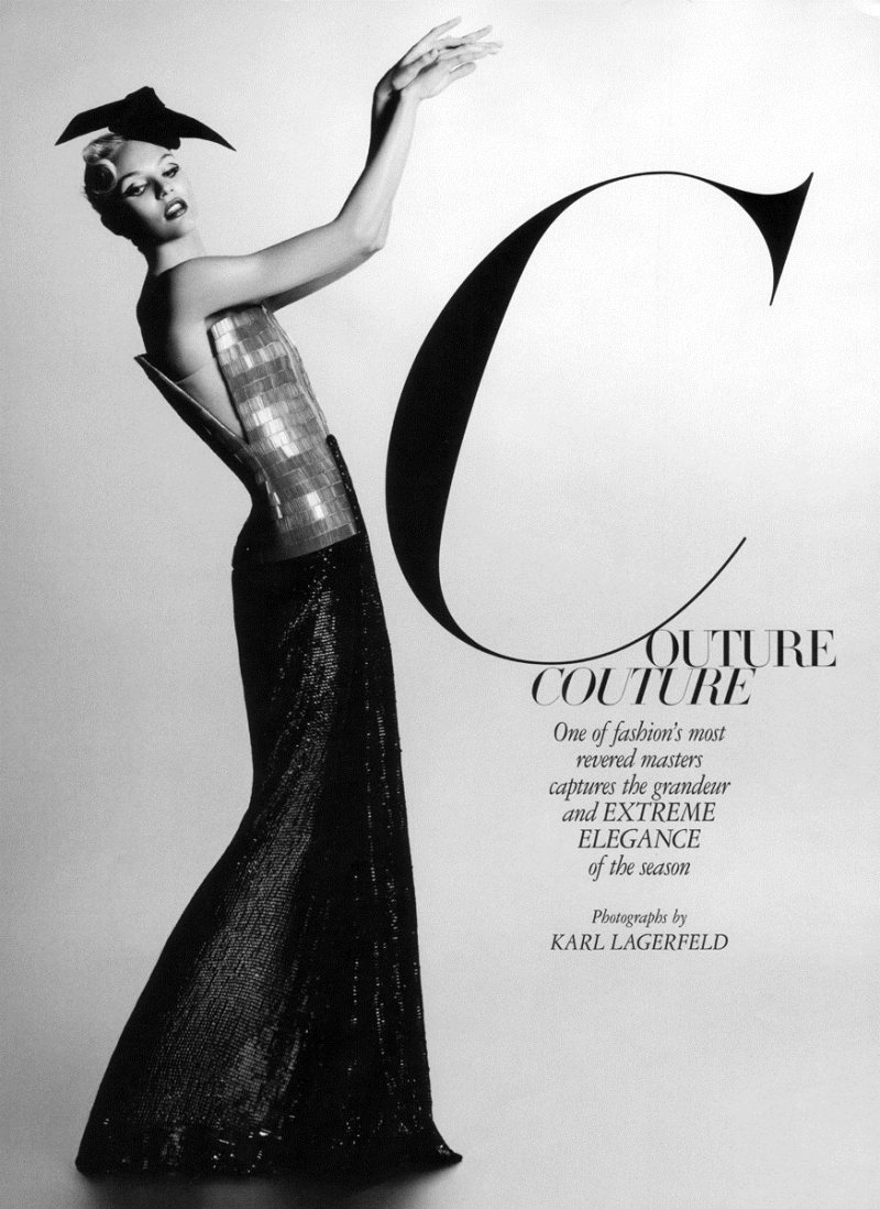 Candice Swanepoel by Karl Lagerfeld for Harper's Bazaar US