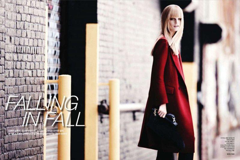 Hanne Gaby Odiele by Dean Isidro for Harper's Bazaar Korea October 2011