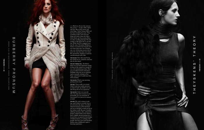 Taylor Tomasi Hill by Tetsuharu Kubota for The Block F/W 2011