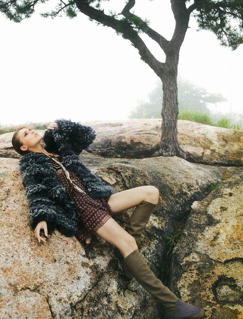 Valeria Sorokoletova by David Vasiljevic for Elle UK November 2011