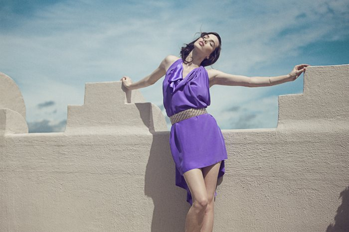 Simone Kerr for Victorine Spring 2012 Lookbook by Justin Hollar