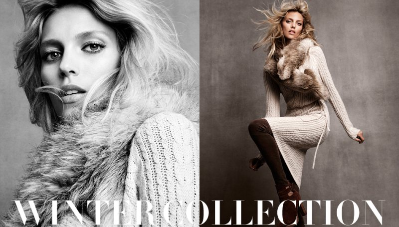 Anja Rubik for H&M's Winter 2011 Collection