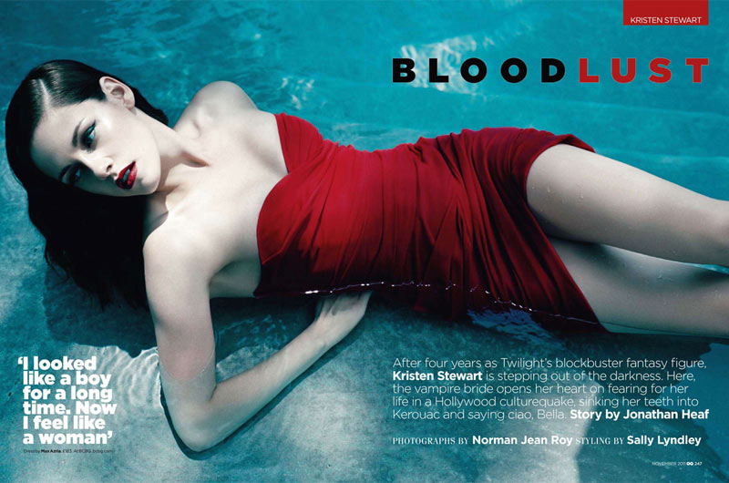 Kristen Stewart by Norman Jean Roy for GQ UK November 2011
