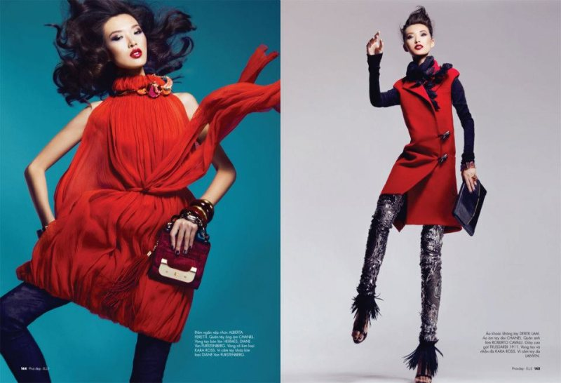 Tian Yi by Kevin Sinclair for Elle Vietnam November 2011