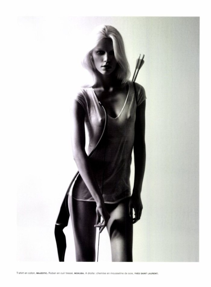 Aline Weber by Camilla Akrans for Numéro #128
