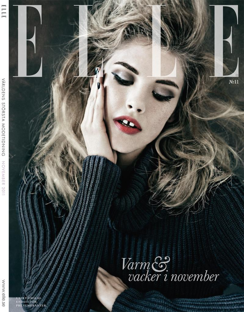 Elle Sweden November 2011 Cover | Ashley Smith by Carl Bengtsson