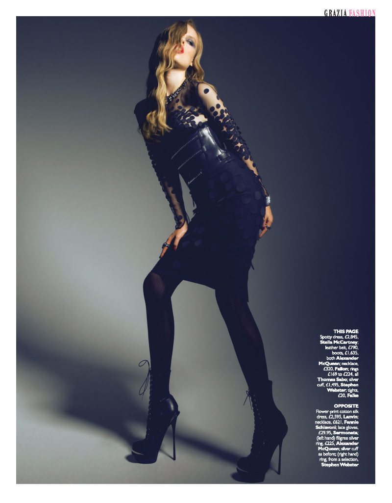 Luize Salmgrieze by Louis Christopher for Grazia UK October 2011