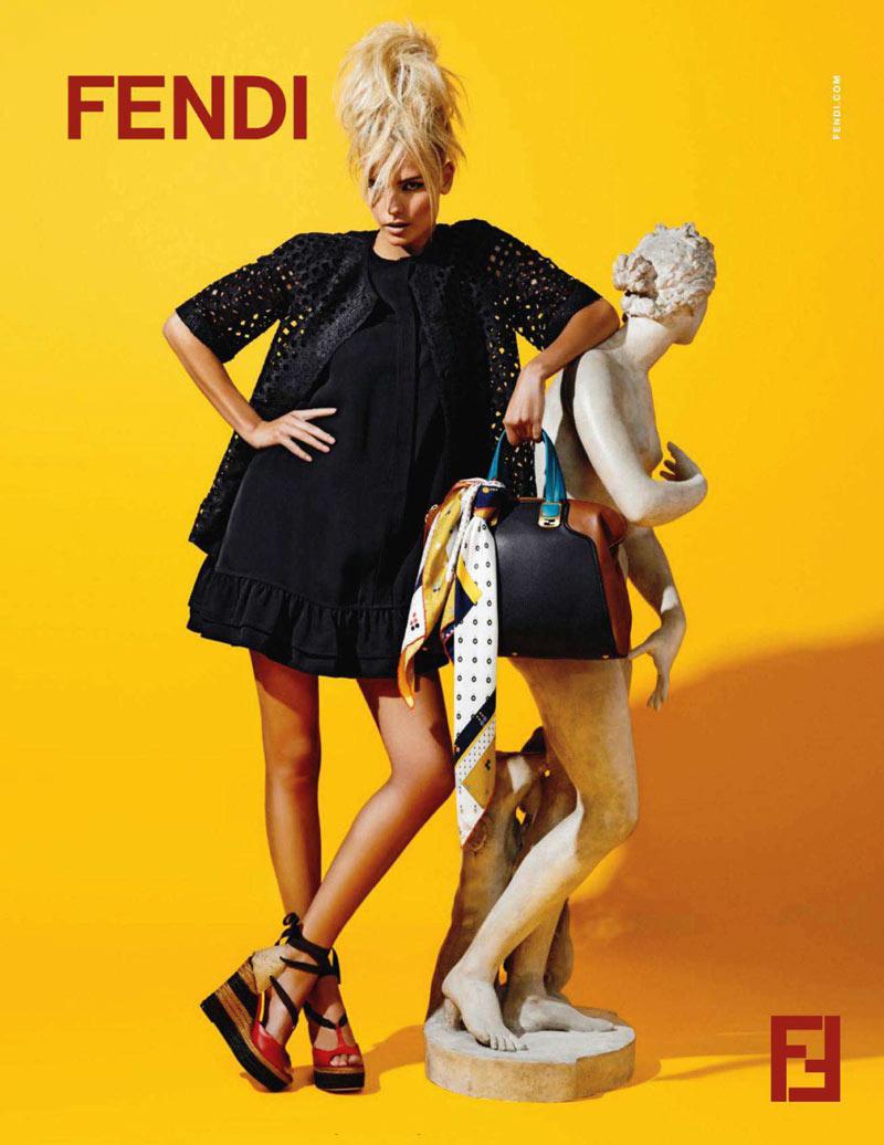 Natasha Poly for Fendi Resort 2012 Campaign by Karl Lagerfeld