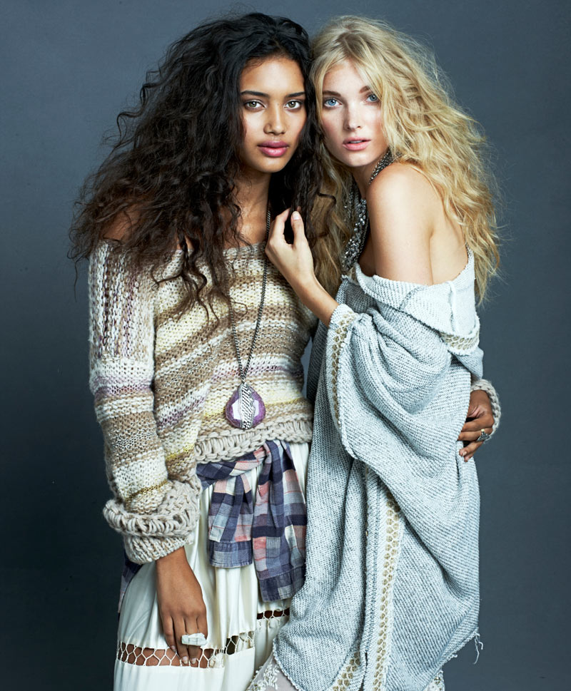 "Elsa Hosk, Chrishell Stubbs & Tallulah Morton for Free People ""Through the Decades"" Book by Alexei Hay"