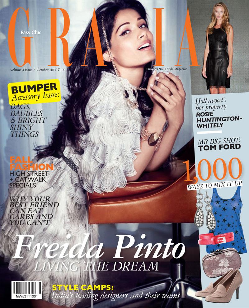 Freida Pinto for Grazia India October 2011