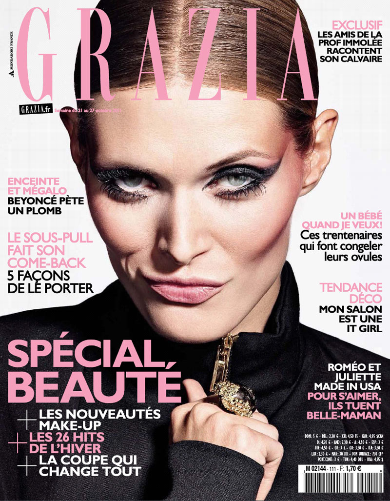 Malgosia Bela by Richard Burbridge for Grazia France