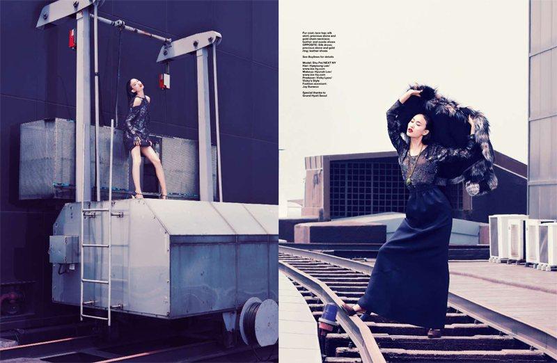 Shu Pei in Fendi for Harper's Bazaar Singapore by Gan