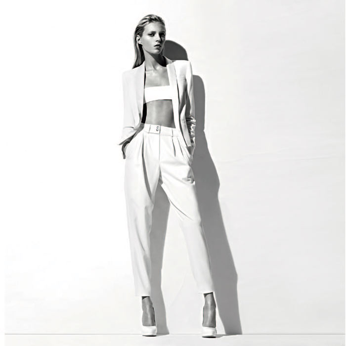 Anja Rubik for Anthony Vaccarello for La Redoute Collection