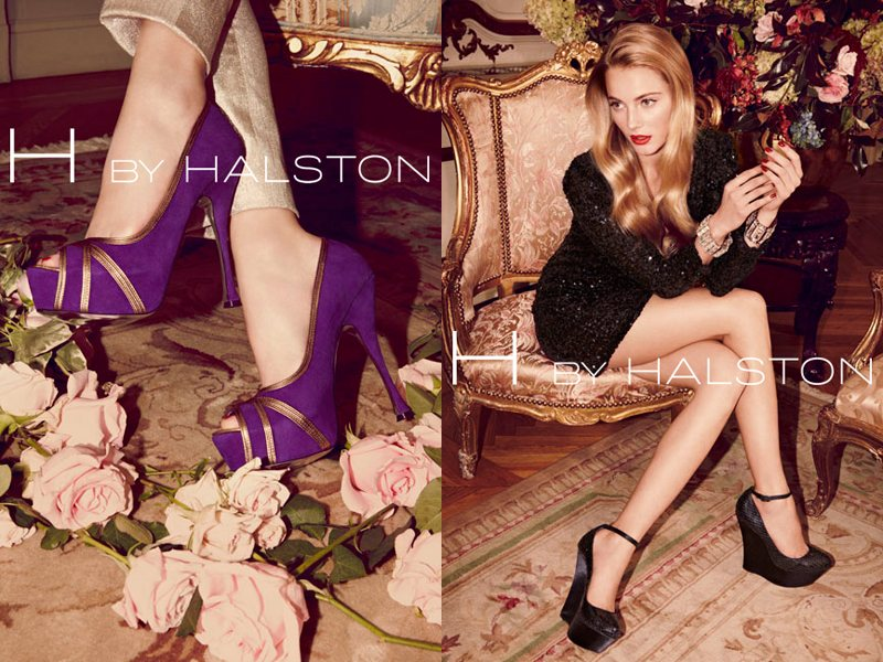 Ieva Laguna for H by Halston Holiday 2011 Campaign by David Roemer