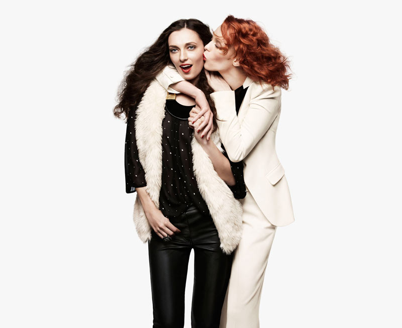 Karen Elson, Joan Smalls, Edita Vilkeviciute & Georgia May Jagger for H&M Holiday 2011 Campaign
