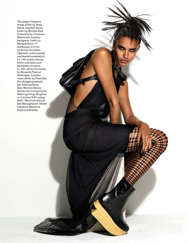 Lakshmi Menon by Matthias Vriens-McGrath for Elle UK December 2011