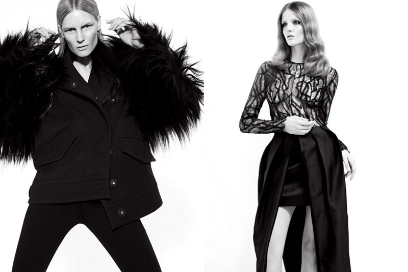 Carola Remer, Linda Vojtova, Kirsten Owen, Elsa Sylvan & Others by Rad Hourani for V #74